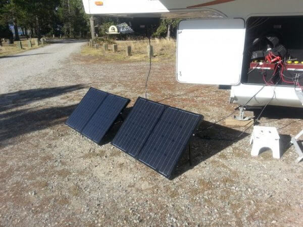 RV Solar Power – portable and ON A BUDGET