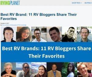 best RV manufacturers