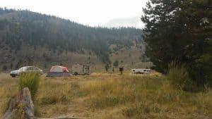 Free Camping at Ring Lake near Dubois