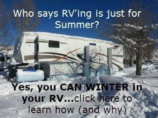 winter in an rv